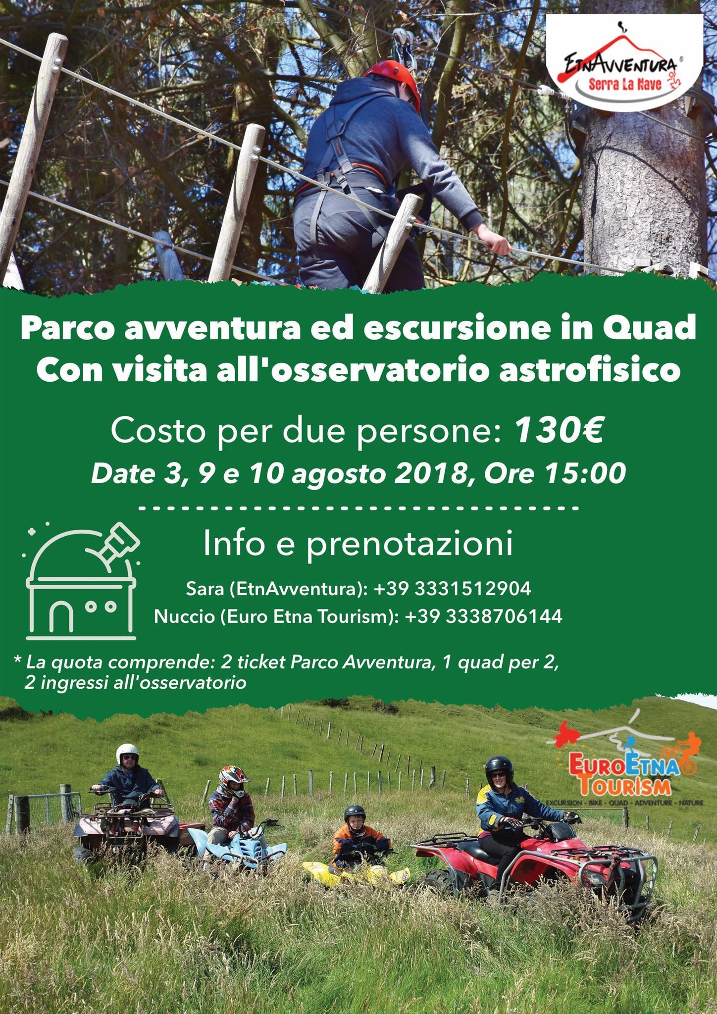 Parco Avventura Etna, Escursione In Quad E Visita All'osservatorio